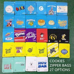 Customized 3.5g Kunststoff Geruch Beweis Süßigkeiten Cookies Ziplock Verpackung kindersicher Mylar-Tasche individuell bedruckte