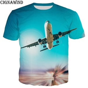 Fashion Aircraft sky landscape 3D Printed t shirts men women streetwear Harajuku Funny Casual men t-shirts Hip hop Summer Tops 0924