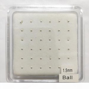 pack of 36pcs 925 sterling silver 1.5mm Ball Nose pin bone gold nostril stud