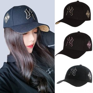 2020 New ya side badge embroidered Yankees Korean style Pointed Baseball baseball cap ins fashion casual all-match peaked cap