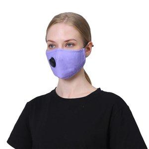Máscara facial PM2.5 boca cubierta a prueba de polvo del respirador anti-bacteriana reutilizable lavable con vavle algodón máscaras 300pcs T1I2233