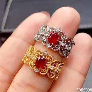 joyería fina KJJEAXCMY plata de ley 925 con incrustaciones nueva prueba de sostenimiento mujeres anillo de la vendimia de la venta caliente de la moda anillo de rubí naturales