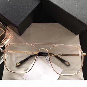 Popular Lujo 7033 Gafas Hombres Moda diseñador de las mujeres del estilo del marco cuadrado retro completa de alta calidad Negro Oro Plata libres vienen con el caso