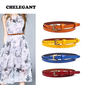 Fashion Print Women Belt Vintage metal buckle Genuine Leather Summer Skirt Dress Wild Thin Belt Personalized Decoration