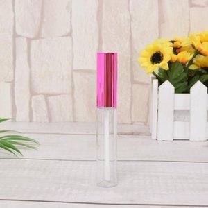 Depolama Şişeleri Kavanoz 5 Parça 10 ml Boş Gül Kırmızı Renk Dudak Parlatıcı Tüp Şişesi Güzellik Aracı Mini Doldurulabilir Örnek Şişeler