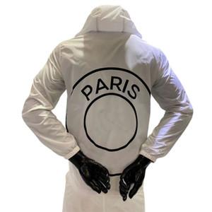 Designer Veste Automne Hiver coupe-vent sport Paris Football Jersey équipe masculine avec capuche Imprimer Vêtements Zipper Mode S-2XL