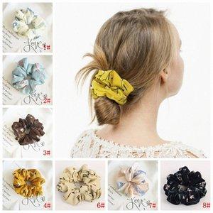 Mode-Mädchen Frühlings-Sommer-Chiffon- Dickdarm- Kreis Pferdeschwanz-Halter-weicher Stretchy Haar-elastische Seil-Zusätze für Frauen Hairba 3EbO #