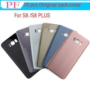 10pcs Original Battery Door Back Cover Glass Housing With Adhesive Sticker For Samsung Galaxy S8 G850 S8 G855 Plus