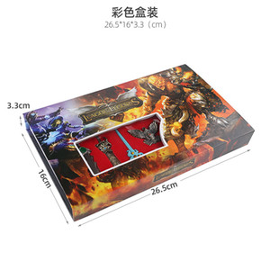 Leagues Game Keychains Hero Gifts Knifes Keyring Accessories Tmpr Metal Weapons 2.7-9cm Kids Game Alliance Jewelry LOL Souvenirs Model Atgr