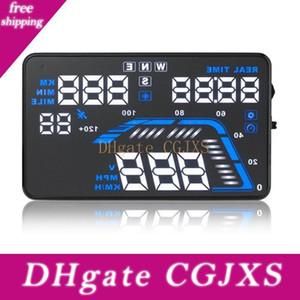 Q7 GPS를 허드 헤드 올라가 디스플레이 자동차 앞 유리 프로젝터 운전 데이터 속도계가 경고 타이머 표시 과속 .5inch 5