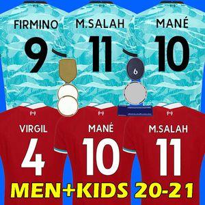 20 21 LVP Fußballtrikot SALAH FIRMINO Fußballtrikot 2020 2021 VIRGIL MANE KEITA 2020 2021 Liverpool Herren + Kinder Kit Uniform