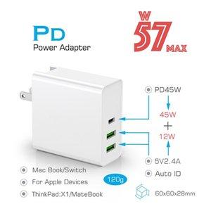 Cgjxs 45w Pd Aufladeeinheitusb-C-Energien-Adapter Pd / QC3 0,0 Typ C 3port-Ladegerät für USB -C Laptops / Macbook / Xiaomi / Samsung