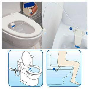 ABD Stok Klozet Bide Set Banyo Tuvalet Taze Su Sprey Temiz Koltuk Yok Elektrikli Kiti Ekleyici Banyo Bide Püskürtücü Ücretsiz Kargo