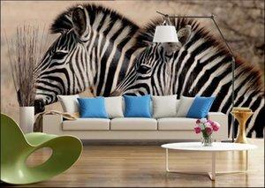 WDBH Custom photo 3d wallpaper Modern zebra steppe background home decor living room 3d wall murals wallpaper for walls 3 d