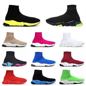 balenciaga sock speed trainer shoes al por mayor 2020 de la manera superior Hombres Calcetines de diseño zapatos de lujo Plataforma Negro Azul marino formadoras calcetín Botas