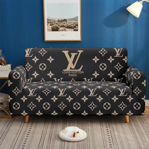 3D-Designer Sectional Elastic Stretch-Sofa-Abdeckung für Wohnzimmer Couch Abdeckung L-Form Sessel Abdeckung Single / zwei / Three.A4
