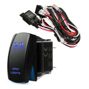 1шт 12v Универсальный Конверсия Устойчив Электропроводка Запасные части Свет работы Illuminated Kit Rocker Switch