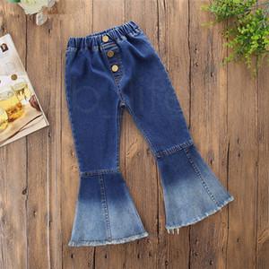 Designer Ins Baby Schlaghose Denim Quasten Jeans Leggings Strumpfhosen Kinder Designerkleidung Hose Mode Kinderkleidung RRA1949