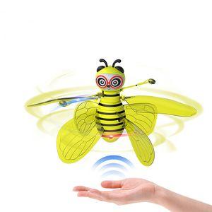 2020 Mini Bee Drone UFO дистанционного управления игрушки RC животных Самолет игрушки Дети Dropship RC вертолет флай игрушки для подарка дня рождения