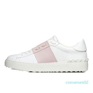 Ll2020 Moda Mens Mulheres Casual Shoes preto branco mulheres de couro confortáveis sapatos abertos Baixo esportes sapatilhas Tamanho 35-46 CO02