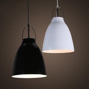 Nordic 25см 40см Столовая Кухня Ресторан Подвеска Свет Белый Черный Алюминий Подвесной светильник Кафе Бар лампады свет светильника