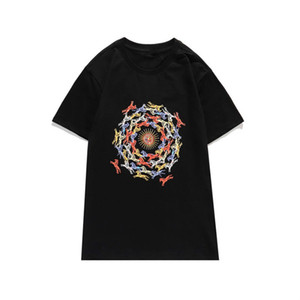 2020 New Men's Shirt Stylist Tshirt Grace Printed T Shirts Men and Women Short Sleeve Solid Color Top Quality Tees 2 Colors Size S-2XL