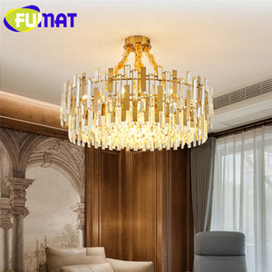 Fumat Modern candelabro de cristal Iluminação LED Rodada Pendant Suspensão Hanging Lamp Indoor luminária Wall Lamp