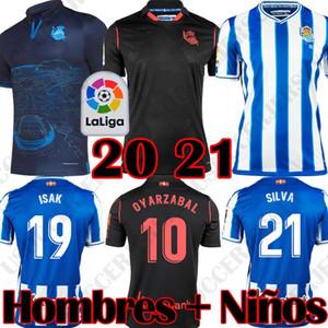 2020 camisas de futebol 2021 Real Sociedad DAVID SILVA OYARZABAL ISAK 20 camisa de futebol 21 X PRIETO Gorosabel WILLIAN PORTU Camisetas de futbol