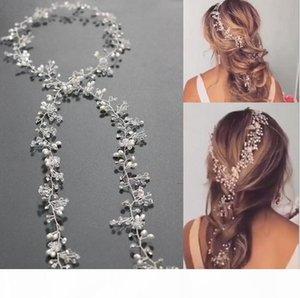 Charm Extra Long Pearls Wedding Bridal Headband - Bridal Hair Piece, Wedding Pearl Hair Vine Bridal Hair Accessories
