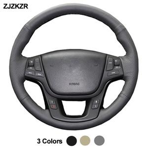 Araç Oto Direksiyon-Jant Kapağı Volant İçin Kia Sorento 2009 2010 -2014 K7 Cadenza 2011-2013 2012 2020 Stuurhoes Funda Volante