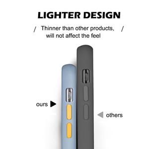Obiettivo della fotocamera di protezione per iPhone copertura posteriore della cassa del telefono 11 PRO MAX X XS MAX XR 6 7 8 6S Plus SE 2 traslucido rigido antiurto