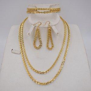 Nueva alta calidad Dubai joyería La joyería fija el conjunto de Nigeria boda africanos Parure Bijoux Femme CX200808