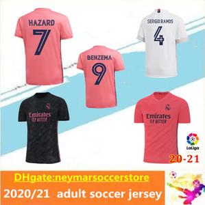 20 21 Real Madrid troisième maison loin de football Jersey DANGER ASENSIO CITP MARCELO 20 21 real madrid camiseta de football uniformes chemise taille S-2XL