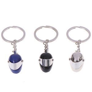 Fashion Motorcycle Safety Keyring Moto Crash Car Keychain Helmet Shape Metal Key Chain Innovative Gift Emulational