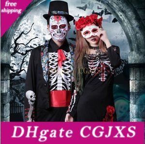 Vampiro Cosplay Homens Ternos Define Mulheres vestidos de festa Halloween Clothing Stage Wear