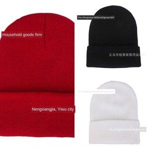 laine fluorescente pull-over tricoté froid Beanies Tricoté solide mignon mao Mao chapeau de fourrure pull-over Hat kIy94
