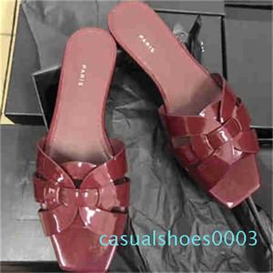 2020 New Designer Mulher plataforma plana Chinelos de dedo do pé aberto Moda Nós Braid Plano Heel Elevador Sandálias Slip On Fora Slides 5 c03