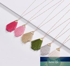 Fashion Jewelry 2019 Frühlings-Sommer-neues Design Bunte Fransen Quaste hängende langkettige Halskette für Frauen