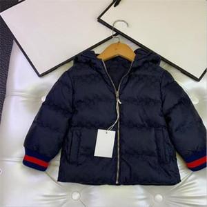 mantener caliente la chaqueta Chica diseño para niños de los niños en el abrigo de invierno Outwear la capa de Down