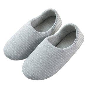 Primavera Autunno Pantofole inferiore molle confortevole cotone Knit Anti-Slip Casa Slipper Slip-On Scarpe Indoor Slipper donne