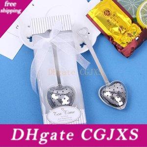 Fedex Dhl Livraison gratuite Coeur Teatime Coeur Thé Infuser cuillère retial Box pour désherber Party Gift Lx6375