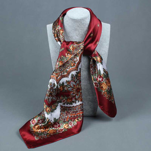 compass simulation trace towel summer style scarf Arrival painting Flower 90*90 Printed square scarf silk woman