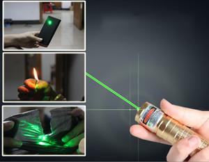 1000 MW-Grün-Laser-Zeiger-Feder Adable Fokus-Laser-Fackel Fokussierbare Burning Star-Zeiger-Taschenlampe 1500M