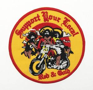 최고 품질 골짜기에는 산적 지원 재킷 무료 배송 wttt 번호 현지 자수 패치 상세 패치 레드 클럽 MC 자전거 MOTOCYCLE