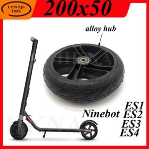 Ninebot 세그웨이 ES1 ES2 ES3 ES4 전기 스쿠터 리어 휠 방폭 타이어 부품에 대한 8 인치 200x50 휠 솔리드 타이어