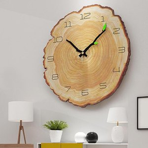 Nordic Style Creative Wood Wall Clock Modern Design Home Decor Retro 3D Digital Wall Clock Home Art Decor