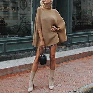 Kış Katı Renk Kadın Giyim Tasarımcı Kadınlar Kazak Kazak Yarasa Kol Sonbahar Gevşek Örme Kazak Kadınlar Günlük