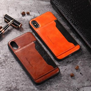 PU кожаный чехол Бизнес Стиль Wallet чехол для iPhone 6 6S 6Plus 7 7Plus 8 8Plus Top чехол качества для Iphone X с держателем и флип Shell