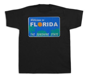 florida usa welcome sunshine state souvenir tourist city t shirt funny tee cool casual pride t shirt men unisex new fashion
