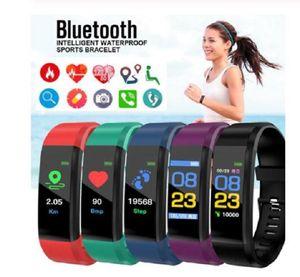 LCD-Schirm-ID115 Plus-Smart-Armband Fitness Tracker Pedometer-Uhrenarmband Herzfrequenz-Blutdruckmessgerät Smart-Armband